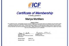 Potvrzení o členství ICF 2020